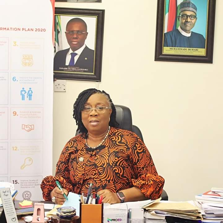 Lagos State Ministry of Education, Honourable Commissioner for Education, Mrs. Folasade Adefisayo