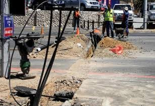 Laying of Fibre Optic Cable