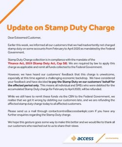 Refund Stamp duty charges