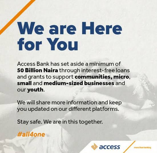 Access Bank to Support SMEs with N50 Billion Interest-Free Loan