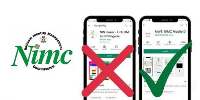 BREAKING: NIMC Warns Nigerians of Fake App for NIN Registration