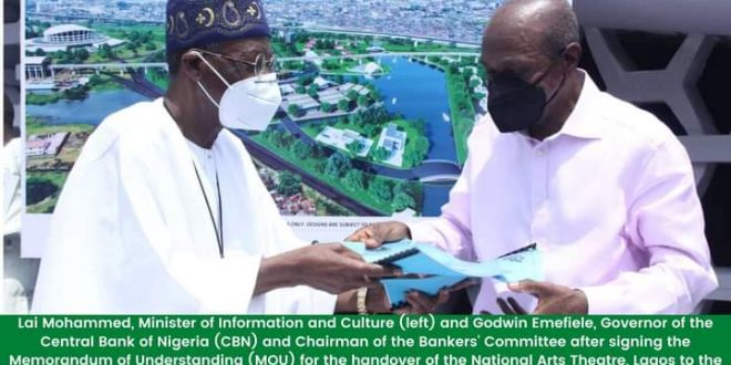 CBN, Bankers' Committee Signs MOU for National Theatre Renovation