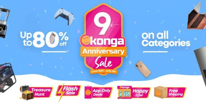 Konga Marks 9 Years of Market Leadership with Special Anniversary Promo
