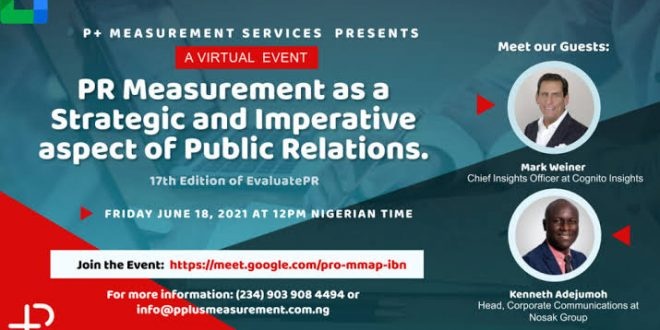 P+ Measurement 17th Edition of Evaluate PR Holds Today