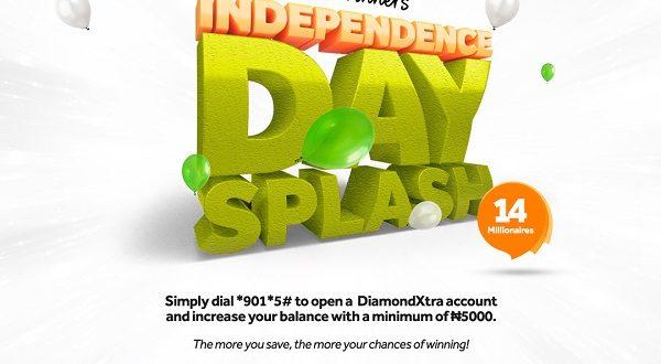 Nigeria @ 61/ DiamondXtra Independence Splash: Access Bank to Reward 14 Customers with N1 Miillion Each